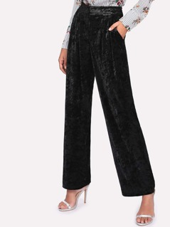 Crushed Velvet Palazzo Pants
