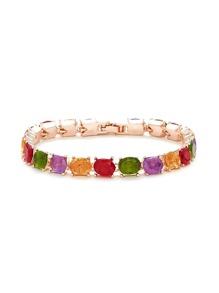 Rhinestone Decorated Link Bracelet