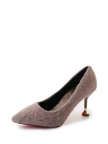 Pointed Toe Fuzzy Kitten Heels