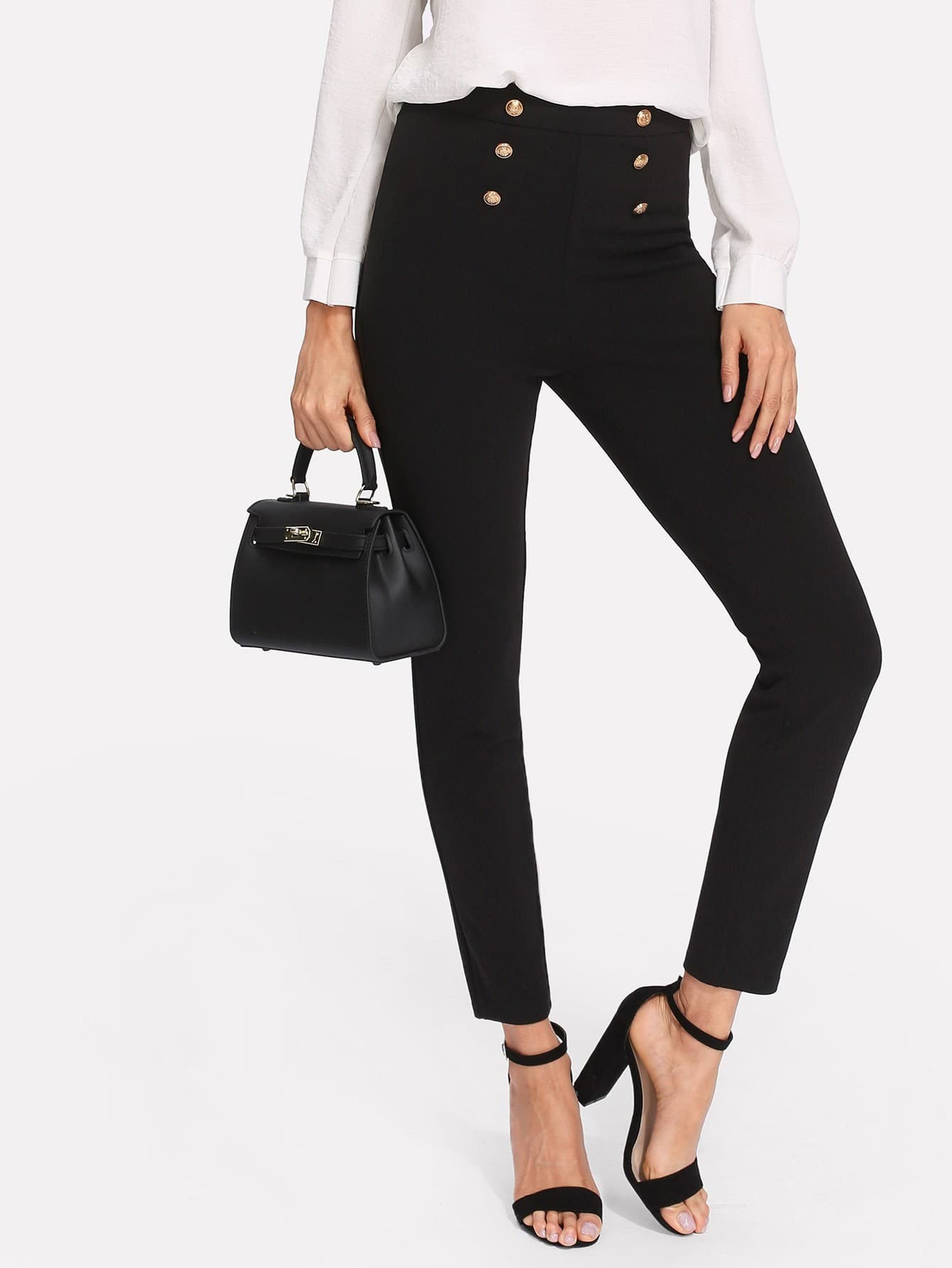 Skinny Sailor Pants zip back skinny pants