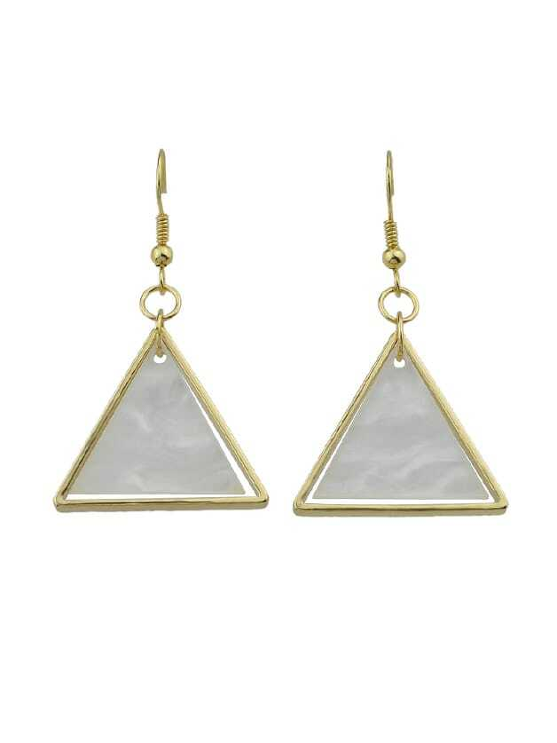 Beige Acrylic Triangle Drop Earrings Brincos For Women