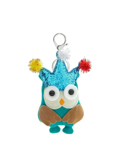 Cartoon Design Keychain With Pom Pom