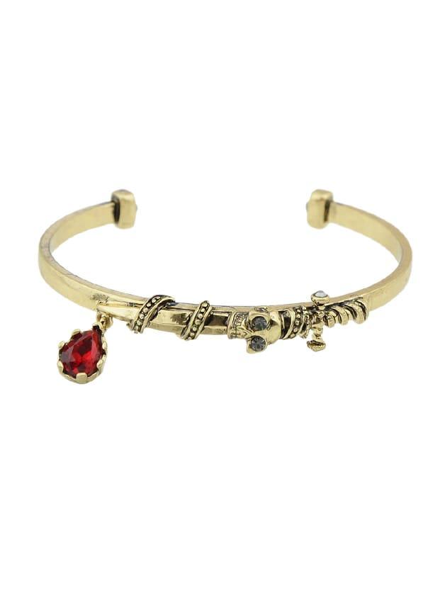 Vintage Style Rhinestone Women Cuff Bracelet