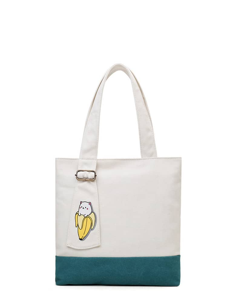 Banana Print Shopper Bag bag171207335