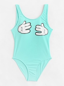 Finger Print Swimsuit