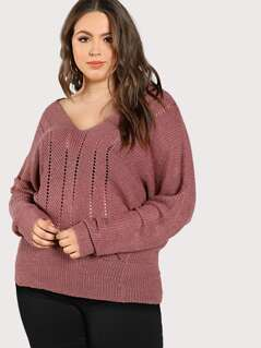 Knitted Oversize Long Sleeve Sweater MAUVE