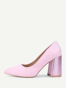 Zapatillas con tacón block de punta