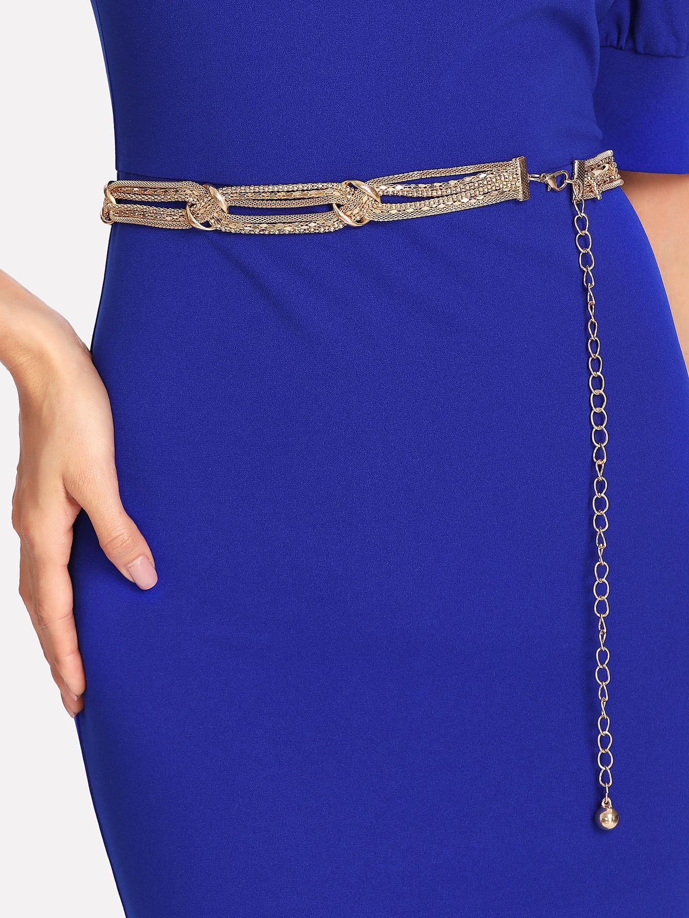 Woven Chain Belt metallic woven belt 2pcs