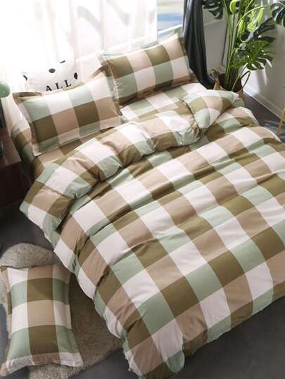 2.0m 4Pcs Plaid Duvet Cover Set