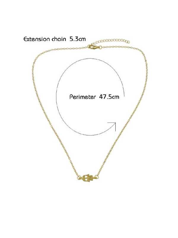 Gold Simple Pendant Short Necklace -SheIn(Sheinside)