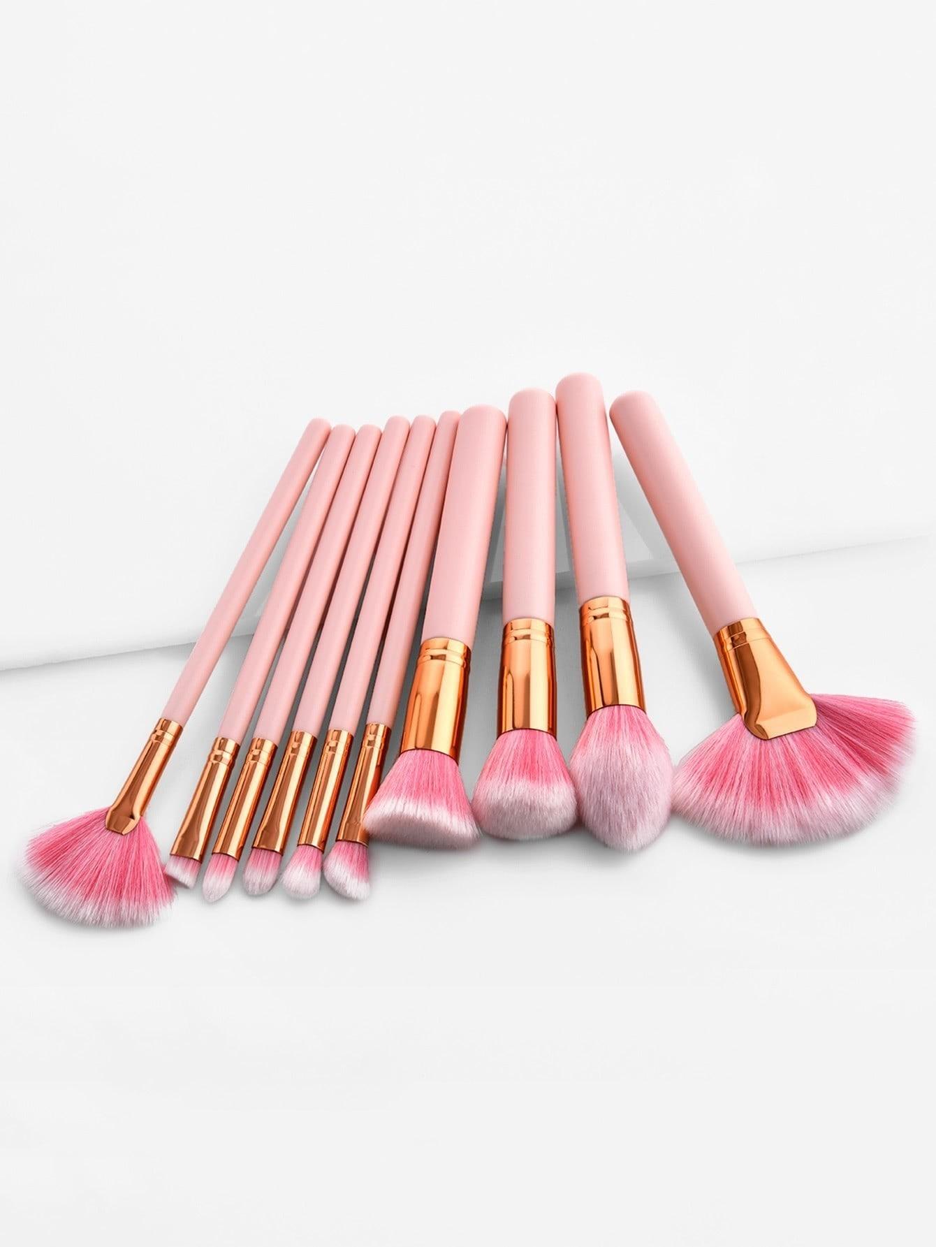Soft Makeup Brush Set 10pcs