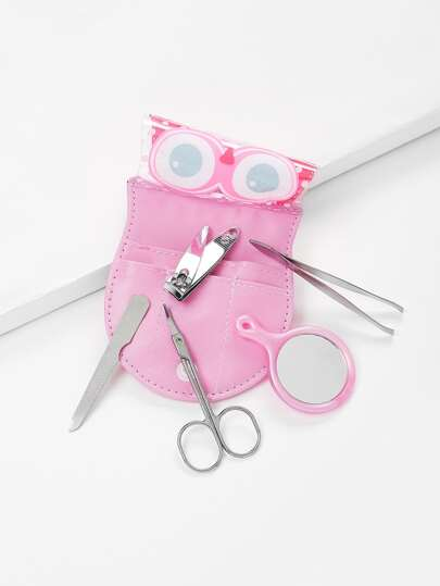 Nail Clippers & Mirror Set With Bag