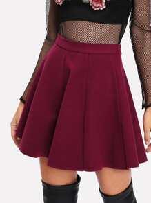 Paneled Flare Skirt