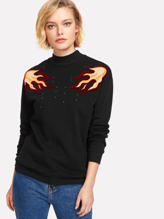 Symmetric Print Sweatshirt