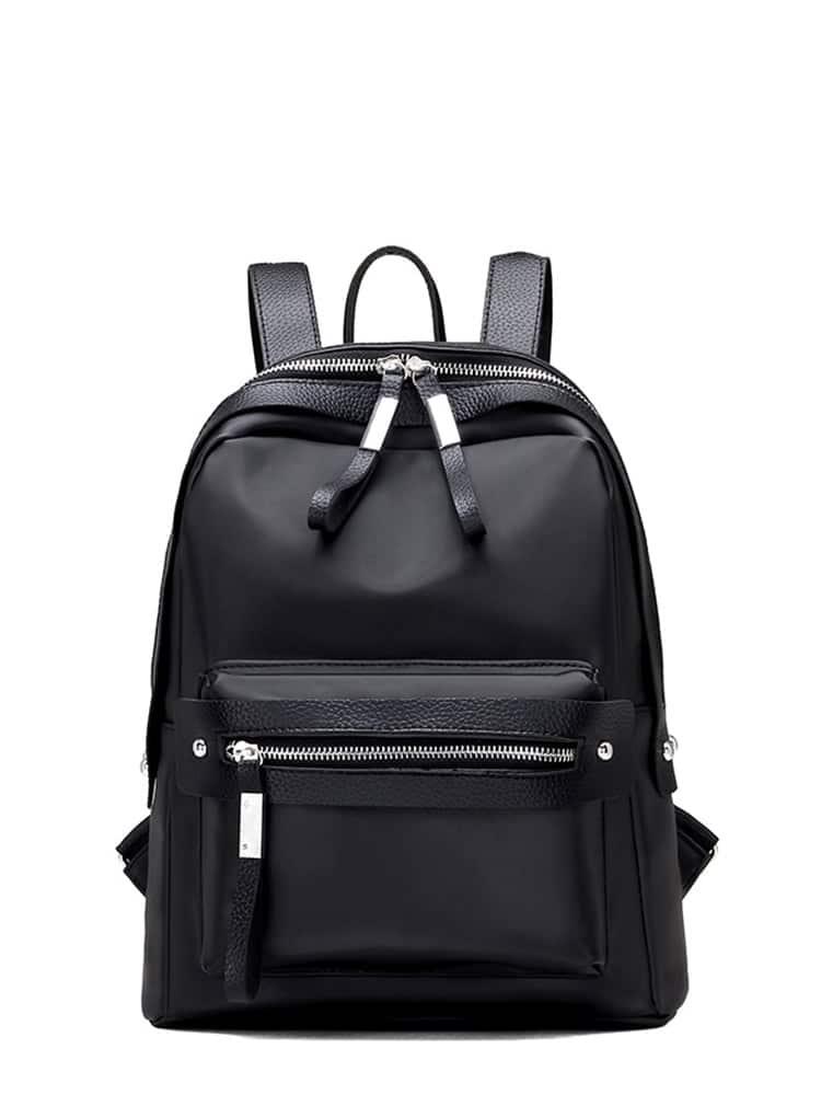 Pocket Front Double Zipper Design Backpack цена 2017