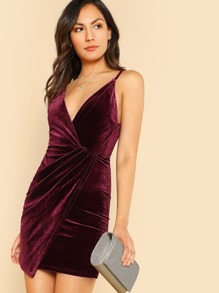 Cami Wrap Dress WINE