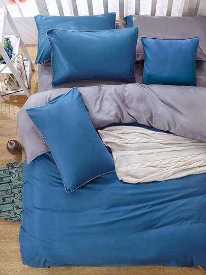 1.8m 4Pcs Two Tone Bedding Set