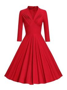 Ruched Detail Circle Dress