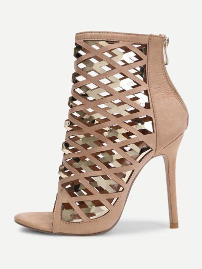 Peep Toe Cut Out Design High Heels