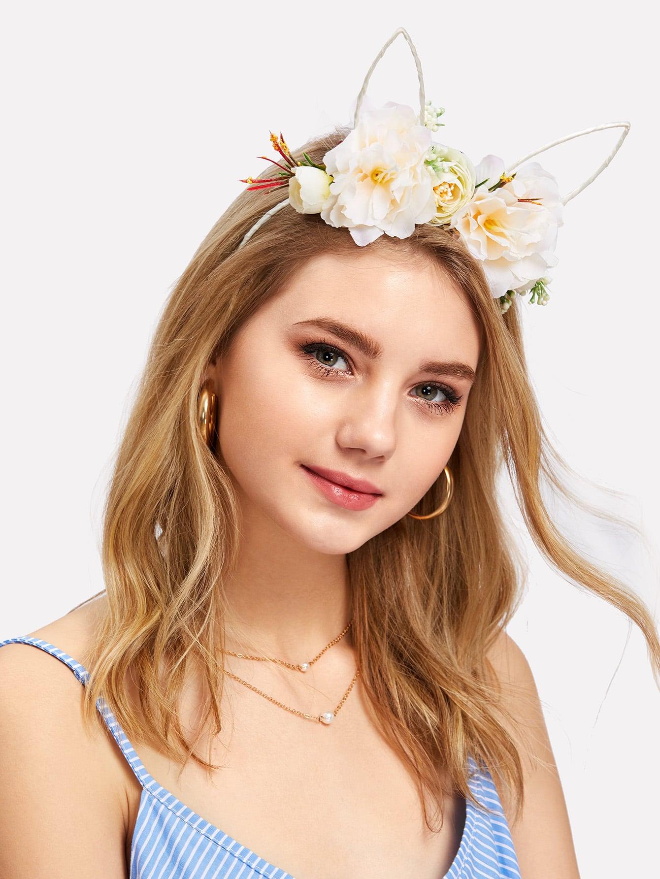 Фото Flower Decorated Ear Headband