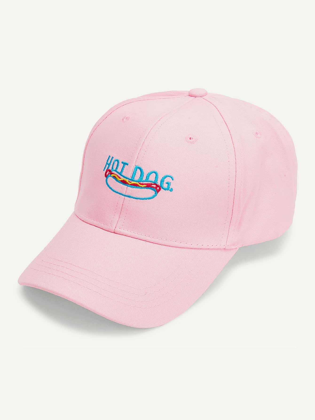 Embroidered Food Baseball Cap 2016 feammal new rose floral embroidered casquette polos baseball caps cotton strapback black pink rose for women sport cap