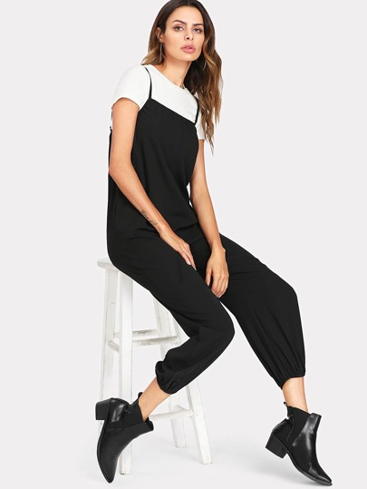 Pocket Side Cami Jumpsuit