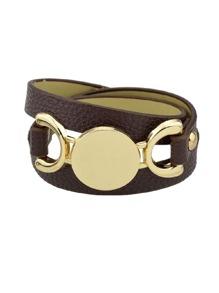 Coffee Multi-Layer Winding Wide Bracelet