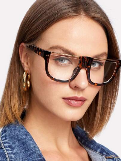 Metal Flat Top Glasses