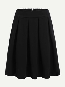 Zip Up Back Pleated Skirt