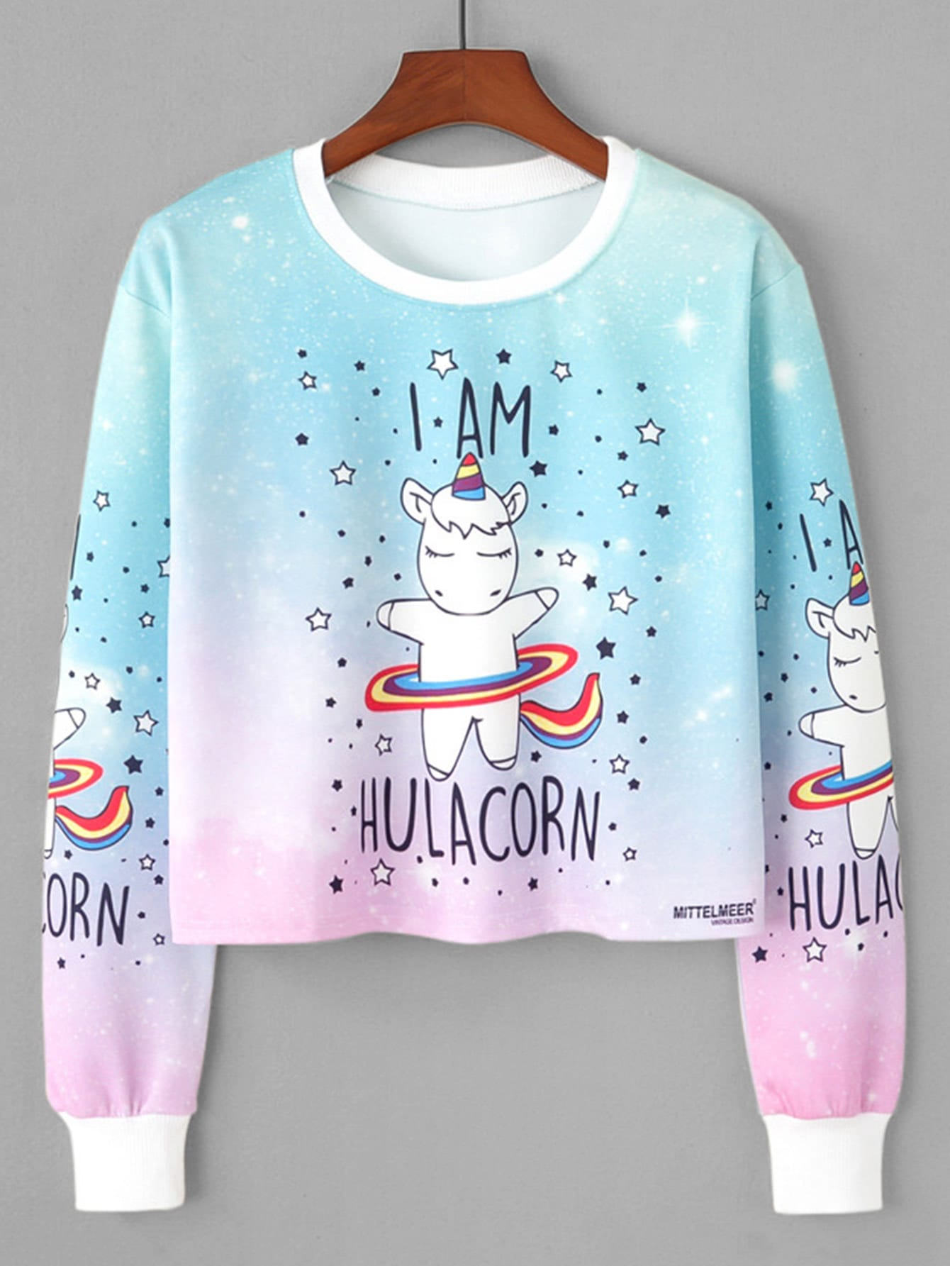 Unicorn Print Sweatshirt