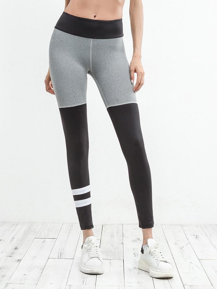 Color Block Varsity Striped Leggings