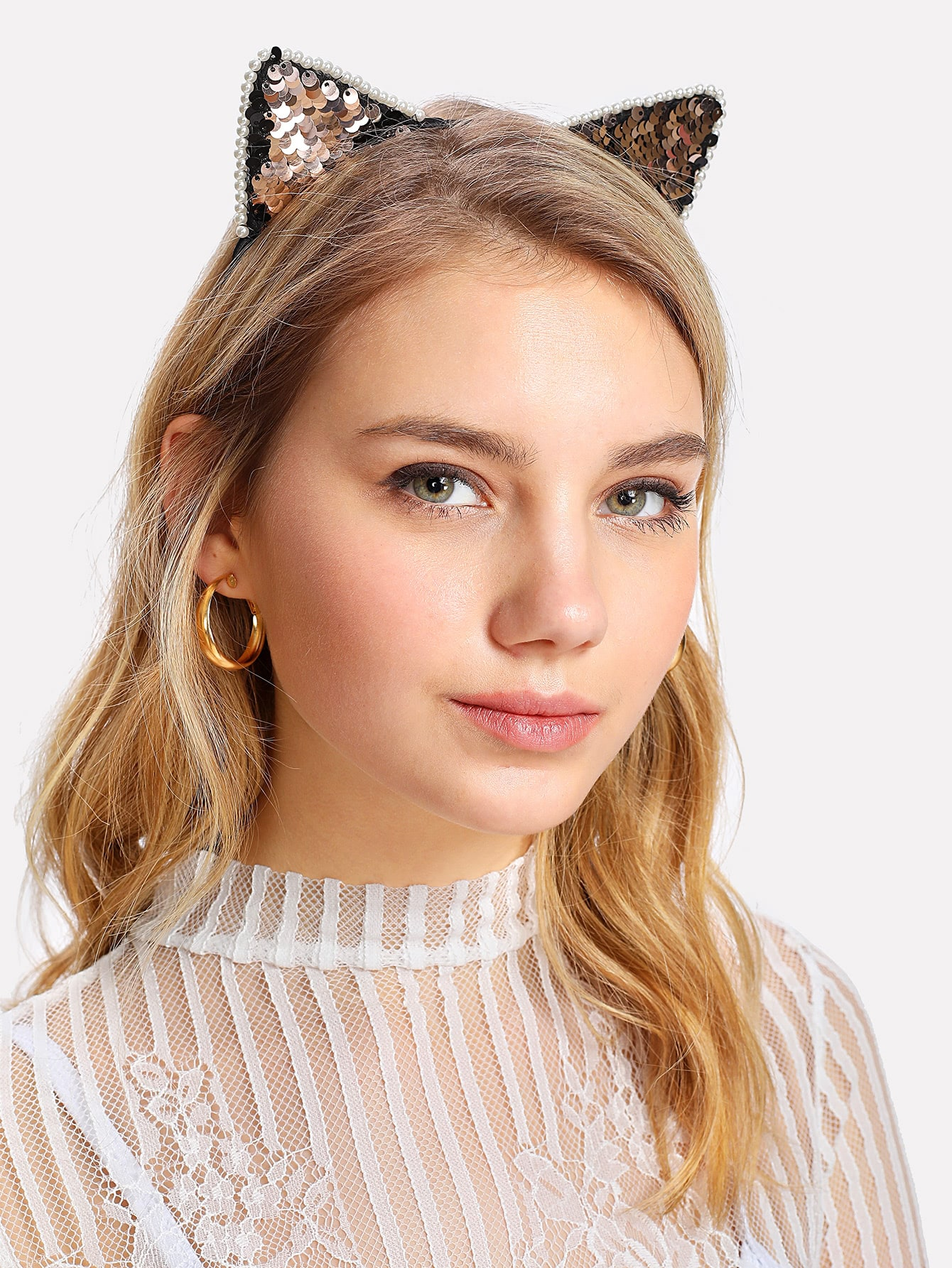Sequin Decorated Ear Headband
