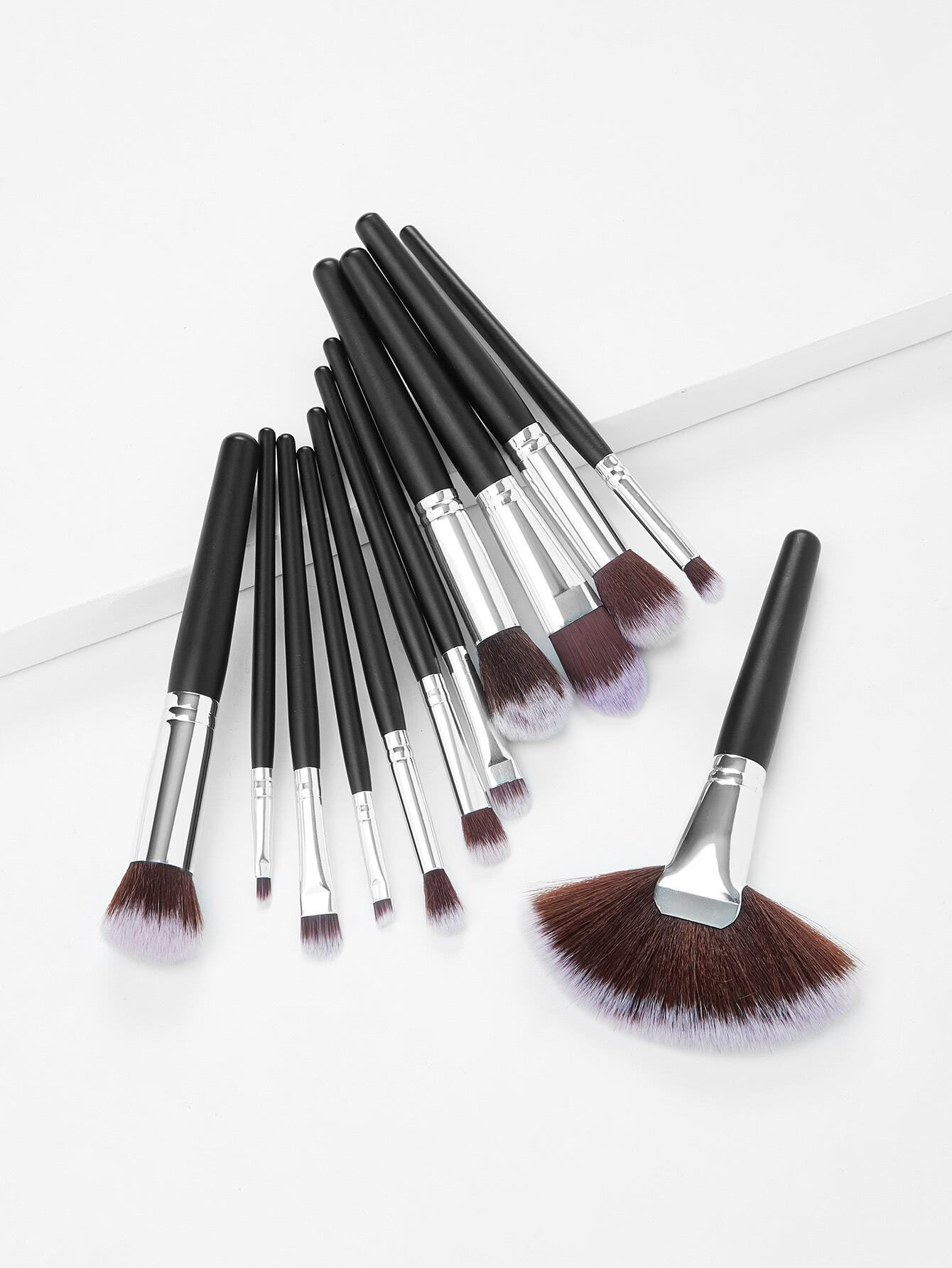 Fan Shaped Professional Makeup Brush 12pcs