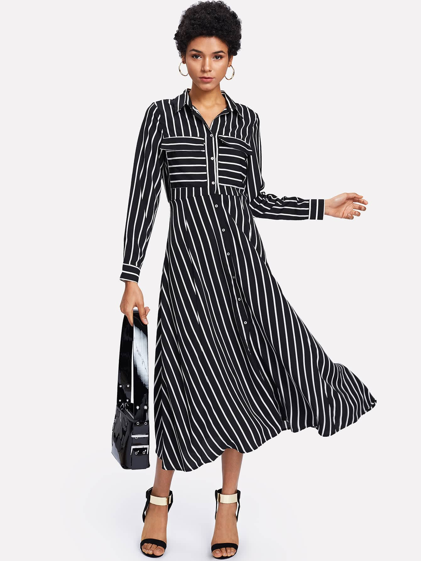 Pocket Patch Button Up Front Shirt Dress plus size button up belted pocket shirt dress