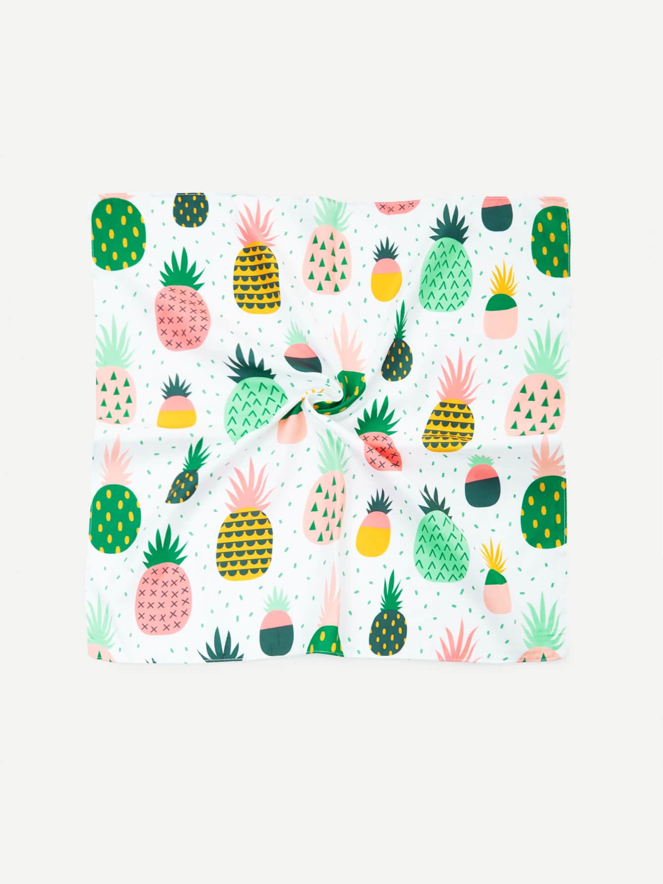 Pineapple Print Bandana Scarf