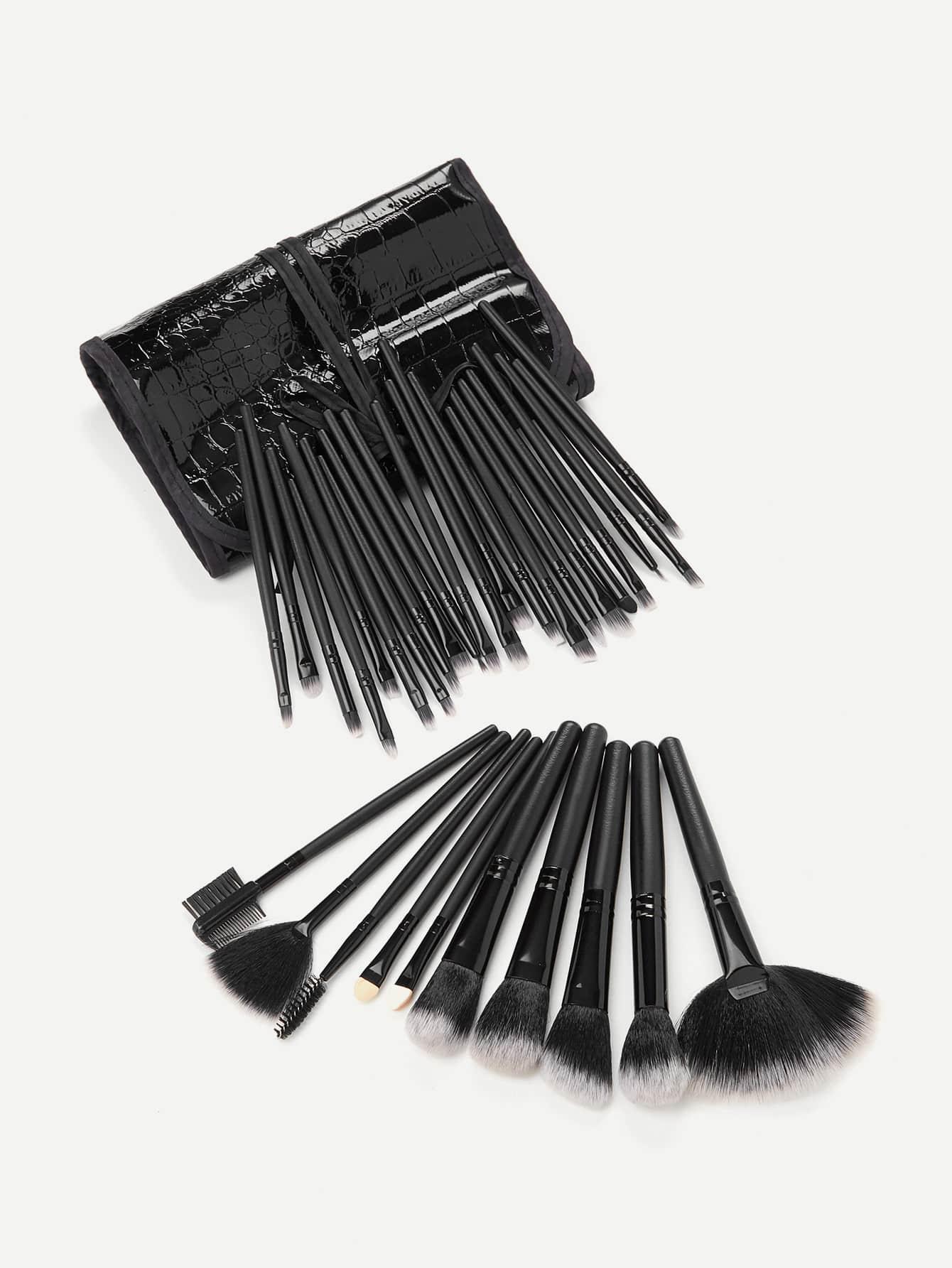 Professional Makeup Brush 32pcs With PU Bag tube professional 7 in 1 cosmetic makeup brush set w pu case purple