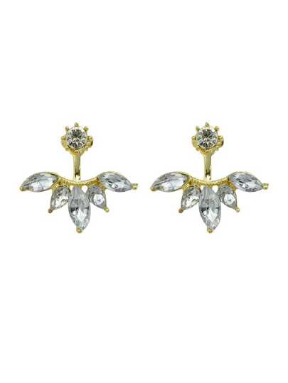 Gold Rhinestone Stud Earrings For Women Accessories