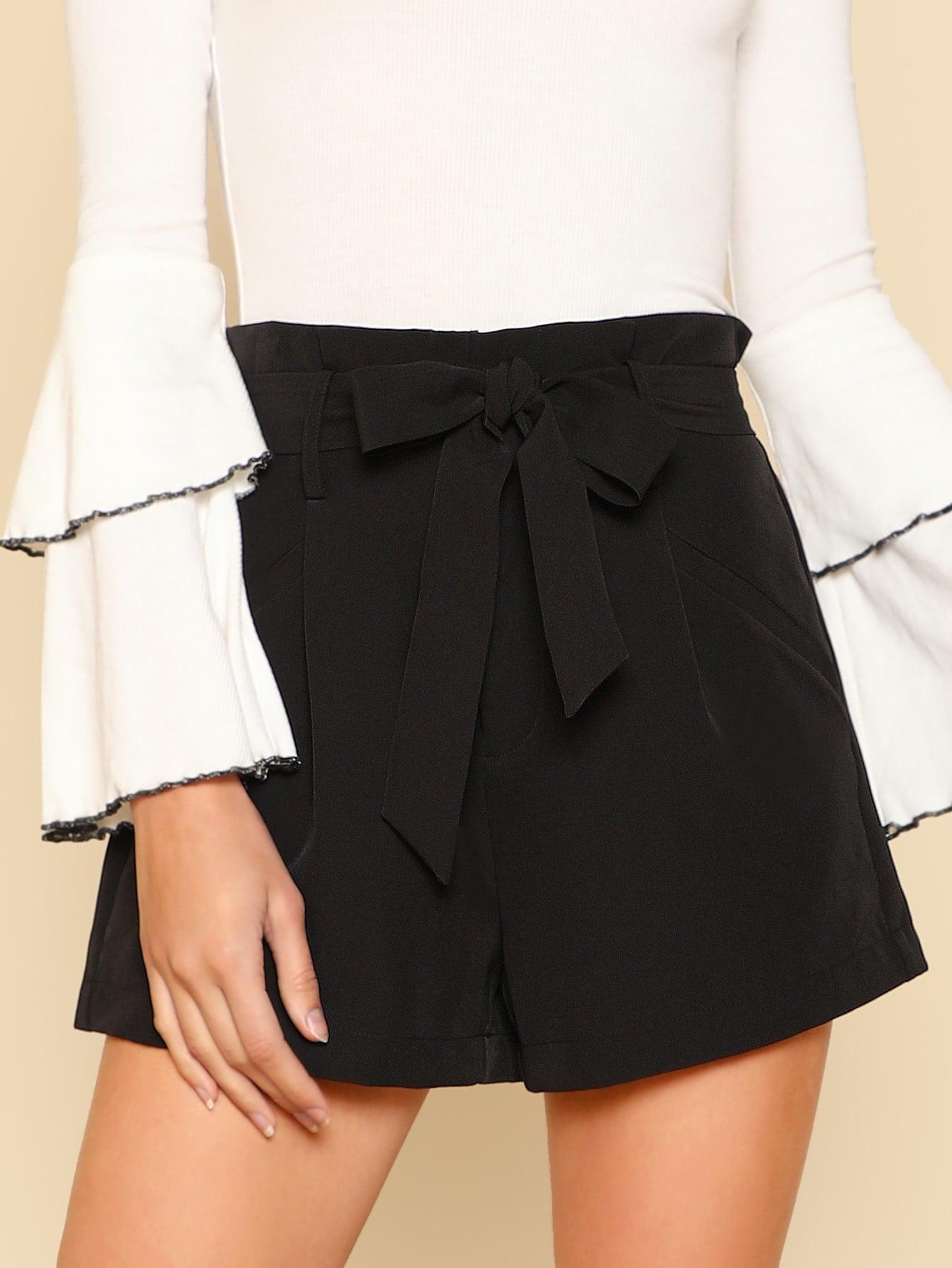 Купить Модные шорты с поясом, Zandria Theis, SheIn