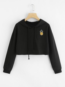 Pineapple Patch Crop Hoodie