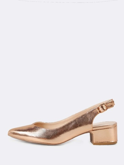 Pointed Toe Slingback Pump ROSE GOLD