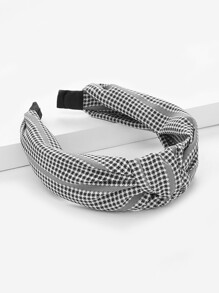 Plaid Knot Headband