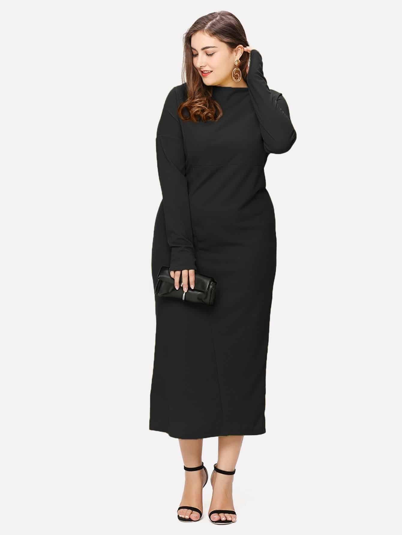 Plus Drop Shoulder Maxi Dress