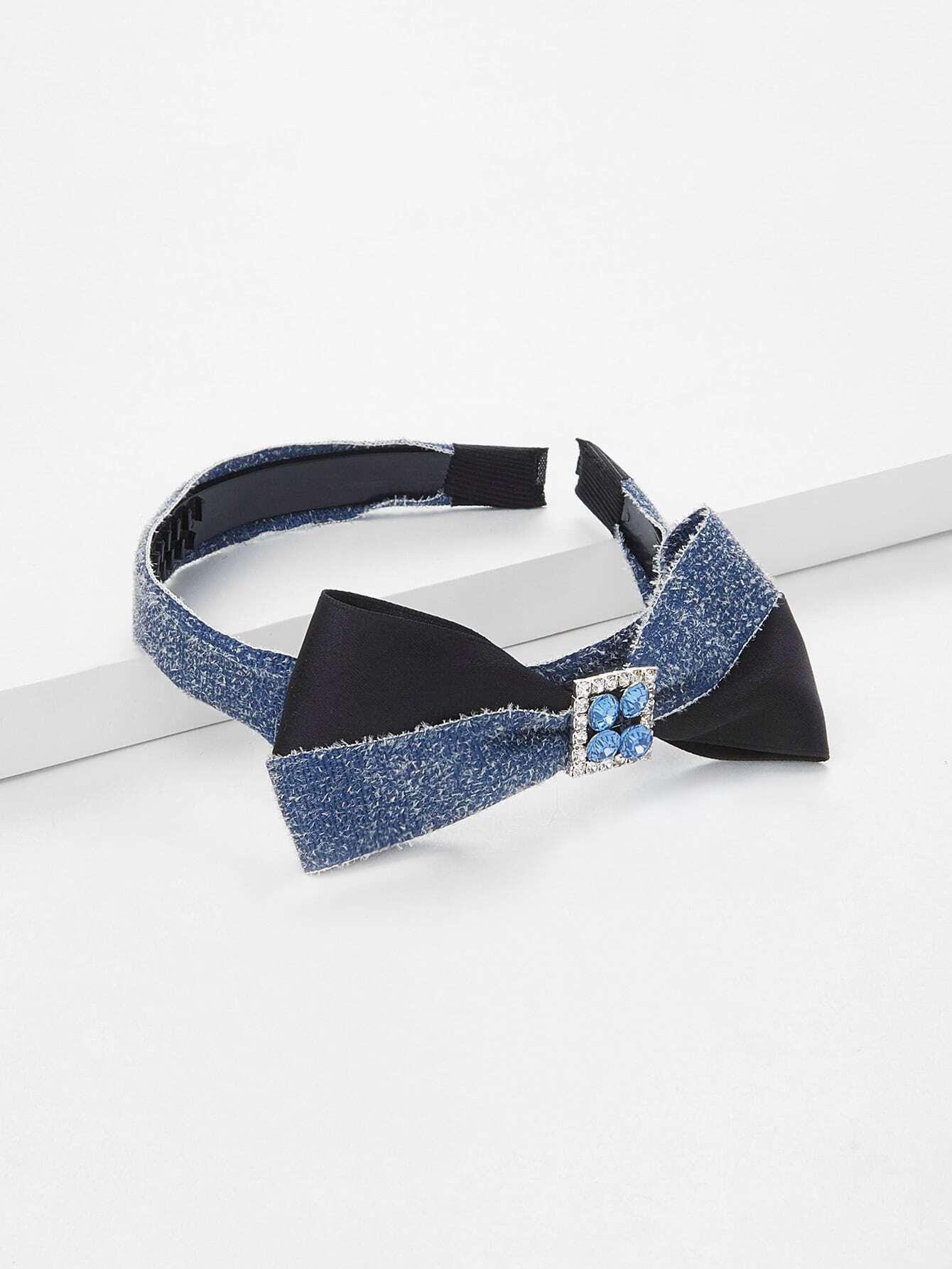 Rhinestone Bow Design Hair Tie