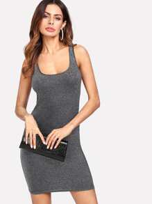Glitter Bodycon Tank Dress