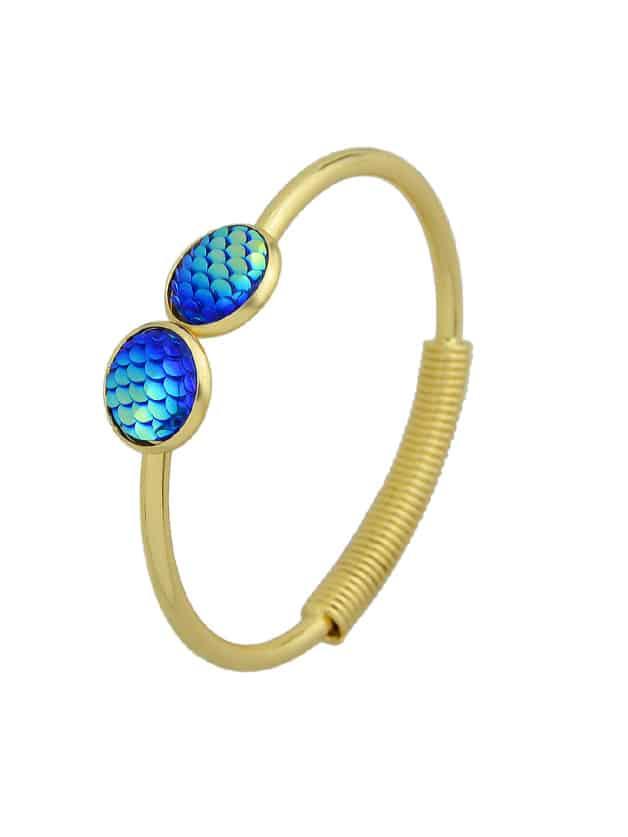Bleu Sirène Balance Amour Bracelets