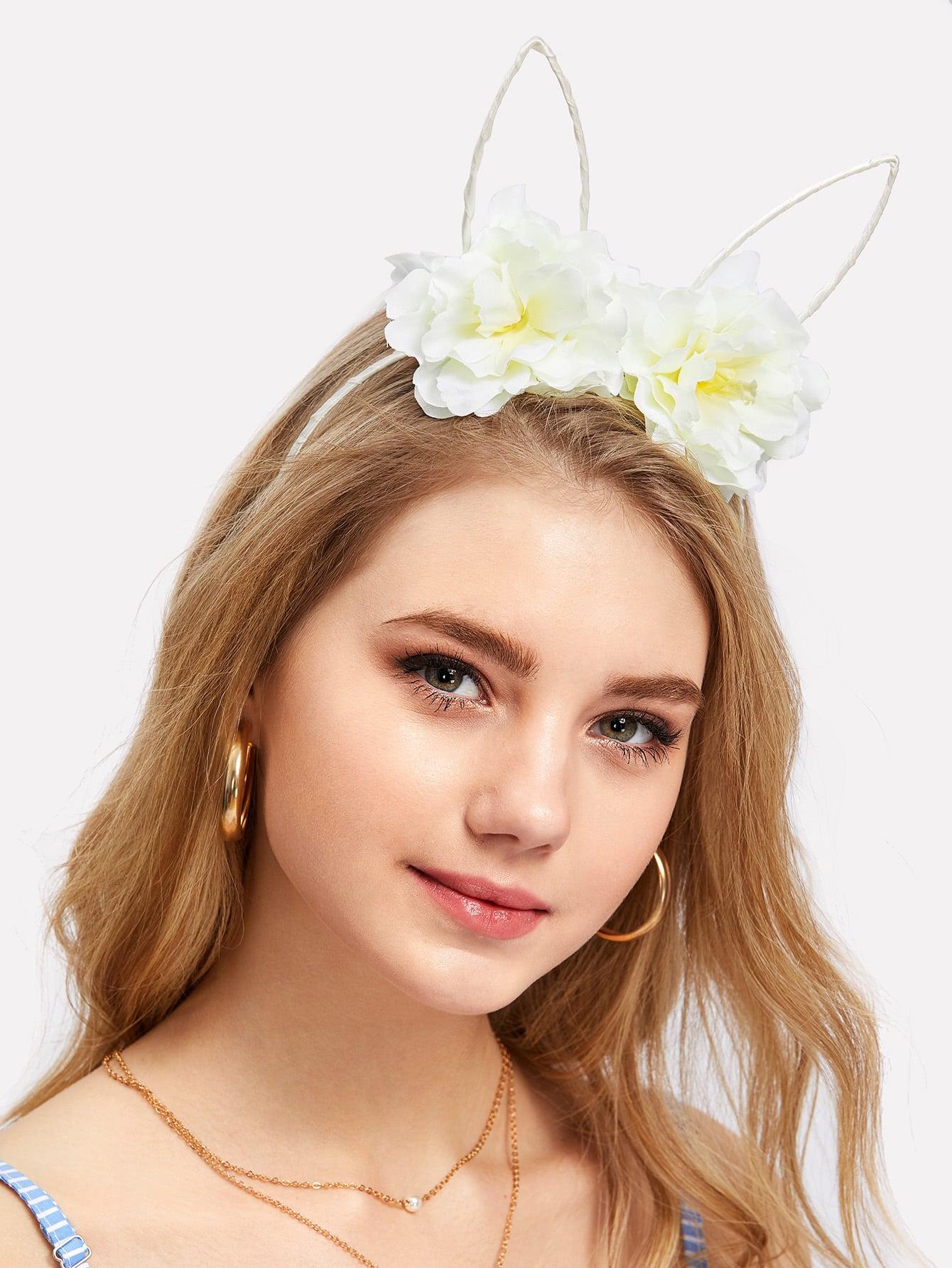Flower Decorated Ear Headband