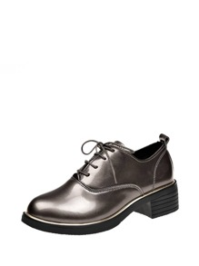 Patent Leather Lace Up Oxfords
