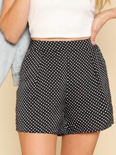 Polka Dot Tailored Shorts
