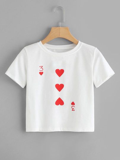 Poker Card Print T-shirt