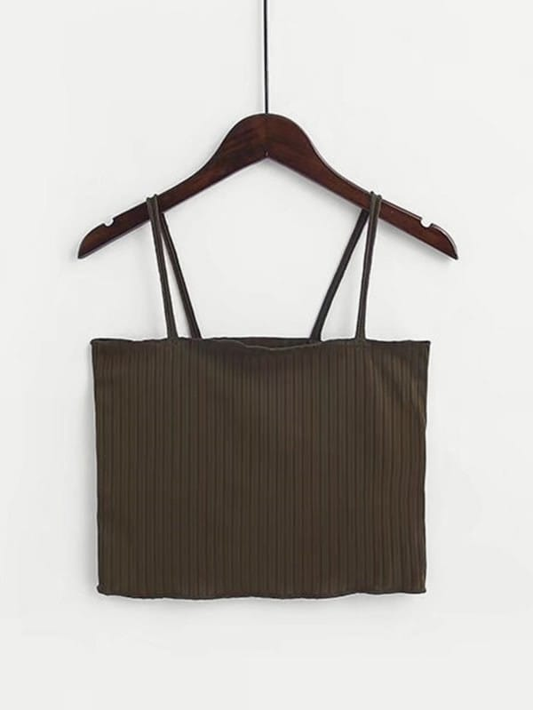 Rib Cami Crop Top vest180122201
